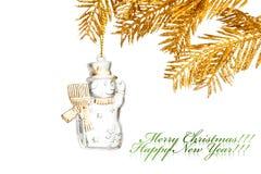 Christmas decoration snowman Royalty Free Stock Image