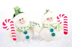 Christmas decoration. With snowman and snow Royalty Free Stock Images