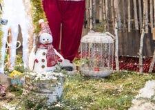 Christmas decoration snowman. Christmas decoration with tiny snowman Royalty Free Stock Photos