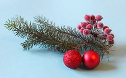 Christmas decoration. Some Christmas decoration on paper background stock photography