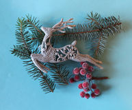 Christmas decoration. Some Christmas decoration on paper background Royalty Free Stock Image