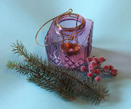 Christmas decoration. Some Christmas decoration on paper background Stock Photo