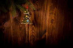 Christmas decoration - spruce branch Royalty Free Stock Images