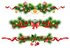 Christmas decoration with  spruce  tree. And bow Stock Photography