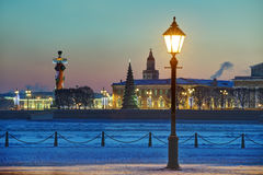 Christmas decoration of St. Petersburg, Russia, winter evening, Royalty Free Stock Photography