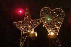 Christmas decoration. Star and heart - Christmas decoration stock illustration