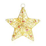 Christmas decoration, star, isolated on white Royalty Free Stock Photo