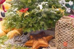 Christmas decoration. Star under christmas tree Stock Photography