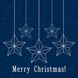 vector christmas decoration with stars Royalty Free Stock Photos