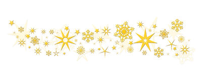 Christmas decoration stars snowflakes Stock Images