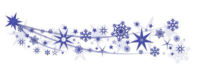 Christmas decoration stars snowflakes Royalty Free Stock Photo