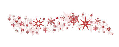 Christmas decoration stars snowflakes Royalty Free Stock Images