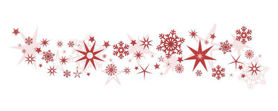 Christmas decoration stars snowflakes Royalty Free Stock Photos