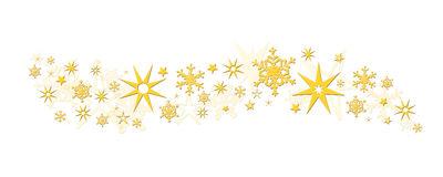 Christmas decoration stars snowflakes Stock Photos