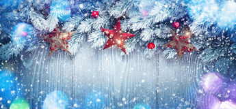 Christmas decoration with stars Royalty Free Stock Photo