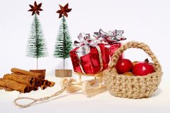 Christmas decoration. Christmas still life with decorations Royalty Free Stock Photo