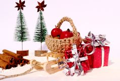Christmas decoration. Christmas still life with decorations Royalty Free Stock Photography
