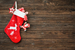 Christmas decoration stocking stock images