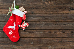 Christmas decoration stocking Royalty Free Stock Photo
