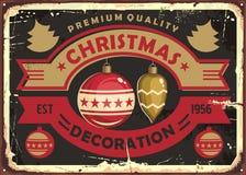 Free Christmas Decoration Store Retro Tin Sign Design Stock Images - 160459704