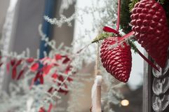 Christmas decoration in the street Stock Photography