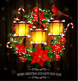 Christmas decoration with street lights Stock Image