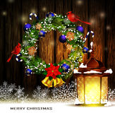 Christmas decoration with street lights Royalty Free Stock Photos