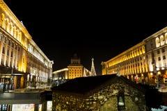 Christmas decoration on the street  in Sofia,Bulgaria Royalty Free Stock Photos