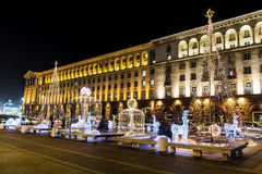 Christmas decoration on the street  in Sofia,Bulgaria Royalty Free Stock Images