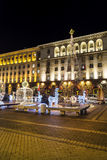 Christmas decoration on the street  in Sofia,Bulgaria Stock Images