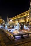 Christmas decoration on the street  in Sofia,Bulgaria Stock Image