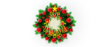 Merry christmas / Christmas Decoration Royalty Free Stock Image