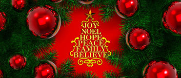 Merry christmas / Christmas Decoration Stock Photography
