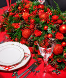 Christmas decoration on table Royalty Free Stock Photo