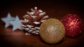 Christmas decoration on a table royalty free stock image