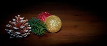 Christmas decoration on a table stock image