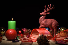 Christmas decoration on table Royalty Free Stock Images