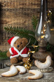 Christmas decoration with teddy bear with cookies Royalty Free Stock Photography