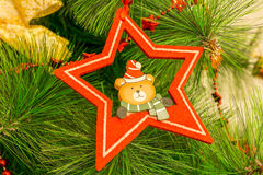 Christmas decoration - teddy bear Royalty Free Stock Photo