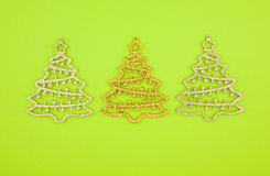 Christmas decoration three firs Royalty Free Stock Photo