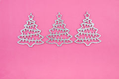 Christmas decoration three firs Stock Photography