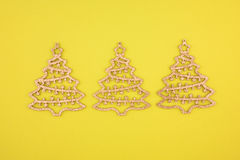 Christmas decoration three firs Stock Images