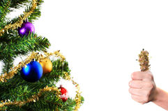 Christmas decoration with thumb up Stock Image