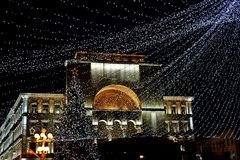 Christmas decoration in Timisoara stock photography