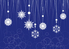 Christmas decoration from the top royalty free illustration