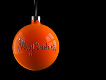 Christmas decoration toy. With extruded greeting Stock Photography