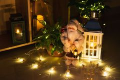 Christmas decoration in interior stock images