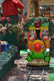 Christmas decoration. With train in Brazil Royalty Free Stock Photos