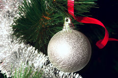 Christmas decoration on the tree Royalty Free Stock Photos