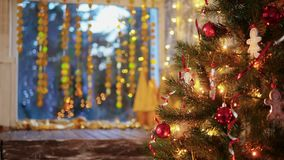 Christmas decoration on the tree.  stock video footage
